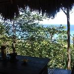 The view from the Balinese hut