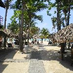 Palapa beach bar right side.
