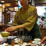 Asakusa Shigetsu Waitress serving Breakfast