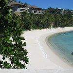 one of 2 beach coves of shangrila. this one is the shared beach.