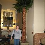 palm tree in lobby