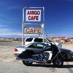 parking at Amigo Cafe