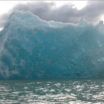 Beautiful Blue Iceberg while Kayaking