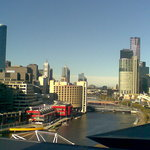 View of Melbourne from our room.