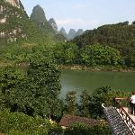 View rom Li River Retreat rooftop terrace.