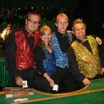 Patrik, Sandra, Dieter and Miguel, the great Entertainment team