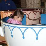 my daughter on the tea cup ride @ £1.50!!