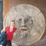 Visiting the mouth of truth in Rome