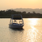 teh boat @ sunset La Boca