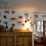 Crab wall in Dining room