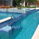 Plunge pools in front of Infinty Swimup Casitas.  Block 31.