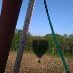 Our balloon shadow