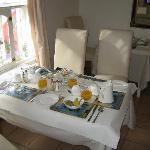 breakfast table - quite nice! great food!