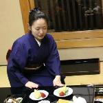 maiko serving dinner