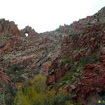 Southern View of Window Rock, Northern End of Shelt Road.