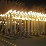 The cool light posts in front of museum