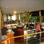 the bar and restaurant area at Royal Davui