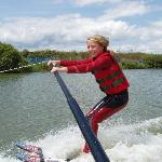 My daughter's first waterski lesson