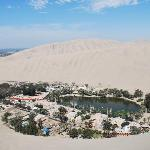 Huacachina from the east sand dune.