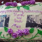 50th anniversary cake with frosting photos