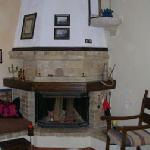 The wood burning stove at House Minoos.