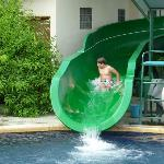 Water slide at hotel