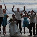 wedding day on Playa Hermosa Beach