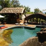 Swimmingpool built on rocks