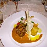 Lamb loin with Marsala hazelnut sauce