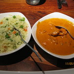 Butter Chicken & Vegetable  Rice