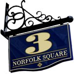 The distinctive 3 Norfolk Square sign