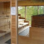 Die finnische Sauna im Nacktbereich