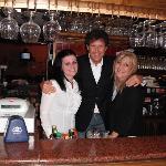 Suela,Maurizio and Monica at the Bar