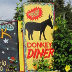 Donkey Diner Hand Painted Sign