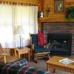 Inside one of the cabins
