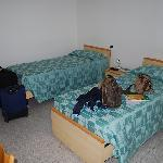 We got twin beds, although we asked for a double bed.