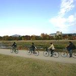 鴨川を爽快にサイクリング