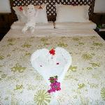 Bed decoration with baby
