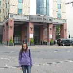 In front of the Millennium Hotel