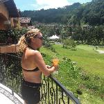 Me on our terrace in Boquete