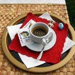 espresso in the backyard