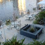 The waterway terrace-view from our deck