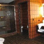 the bathroom was HUGE, I've seen efficiency apts smaller...