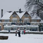 Tattenham Corner Pub in the snow