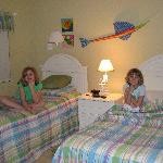 Our girls loved their decorated room and TV.