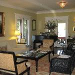 You walk into this gorgeous living room once you enter the B&B