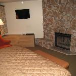 Bedroom's fireplace