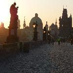 literally 2mins from the charles bridge - 7am photo!