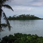 View of lagoon from our cottage