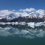 View in the lagoon at Bear Glacier